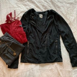 GAP moto jacket with asymmetrical zipper